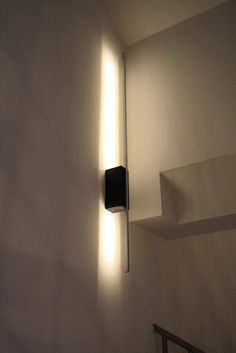 Materials: Ledberg, aluminum profile, black mdfDescription: Because we had a wall power supply for lamps located too low above our stairs and I wanted a lamp, t