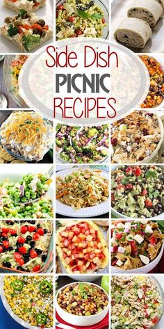 Planning a picnic? or just looking for party side dishes? Here are a ton of delicious options for side dish picnic recipes to fill your picnic basket with! The only question is what recipe will you try first? #picnic #recipes #sidedishes #julieseatsandtreats #recipeideas via @julieseats Camping Side Dishes, Barbeque Side Dishes, Cookout Side Dishes, Grilled Side Dishes, Barbecue Sides, Cookout Food, Summer Side Dishes, Best Side Dishes, Side Dish Recipes