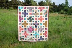 The Violet Quilt - A New Pattern | Kitchen Table Quilting Scrappy Quilts, Baby Quilts, Jellyroll Quilts, Rag Quilt, Patch Quilt, Plus Quilt, The Violet, Fat Quarter Quilt, Purple Quilts