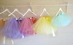 Girls tutu Flower Girl knee length pastel tutu skirt ballet