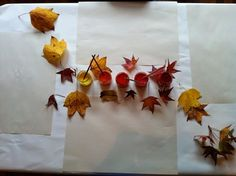 leaf painting -The Nest Nursery School