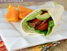 BLTA (Bacon, Lettuce, Tomato, Avocado) Wrap