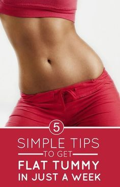 5 Simple Tips to Get a Flat Tummy in Just a Week | FormalHealth