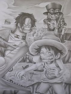 Luffy, Ace y Sabo (One Piece) by RDzone4