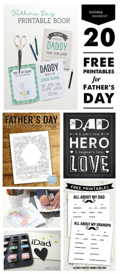 Top Free Father's Day Printables - Love the Super Hero card, the rootbeer float kit, and the Darth Vader card! #fathersday #printables #fathersdayprintables