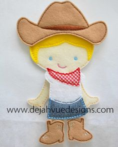 Cow Girl Outfit for 5x7 nonpaper doll