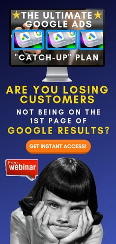 """Running Your Own Business Comes With A Lot Of Challenges...  Advertising Doesn't Need To Be One Of Them.  What If You Could Create Ad Campaigns That Actually Work?  [FREE] Training: The Ultimate Google Ads """"Catch Up"""" Plan  Get Instant Access Now!  #googleads #adwords #leadgeneration #businessgrowth  #sellonline #onlinebusiness #onlinemarketing What Is A Podcast, Online Marketing, Social Media Marketing, Thank You Email, Local Seo Services, Google Ads, Instant Access, Ad Campaigns, Free Training"""