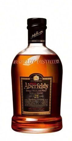 Marisa - Pierce Aberfeldy 21 Year Old Single Malt Scotch Cigars And Whiskey, Scotch Whiskey, Irish Whiskey, Bourbon Whiskey, Highland Whisky, Single Malt Whisky, Bottle Packaging, Wine And Spirits, Bottle Design