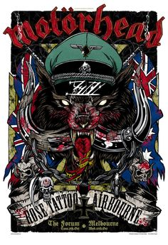 Rhys Cooper's poster for Motorhead live in Melbourne