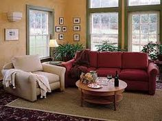 how to decorate with a red couch - Google Search