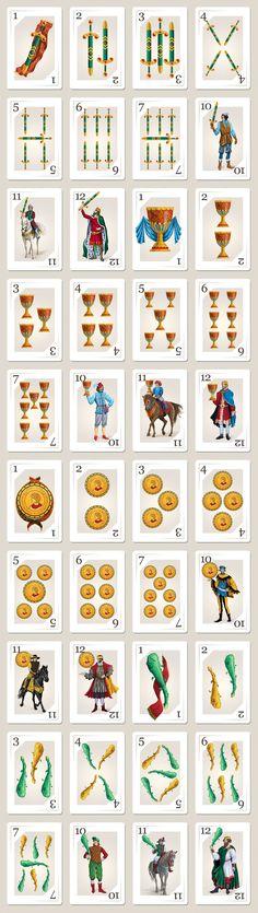 Spanish Cards Set by Elena Galitsky, via Behance