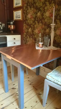 My copper covered kitchentable