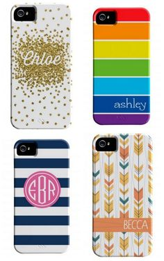 Personalized iPhone cases for tweens and teens: great protection but also a nice charity component. Gift idea!