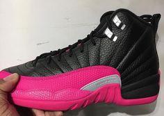 official photos 1ec80 aea33 Air Jordan 12 GS Black Pink Dropping Next Month Pink And Black Jordans,  Pink Jordans