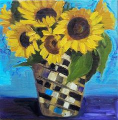 """Daily Paintworks - """"Sunny Disposition"""" by Azra Iqbal"""