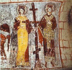 helena+mother+of+constantine | Byzantine Emperor Constantine and his mother Empress Helena from a ...