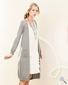 Long Fine-Gauge Cardigan
