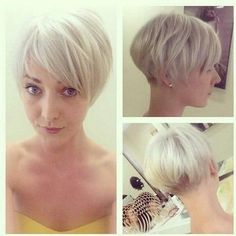 The best collection of Very Short Bob Haircuts Latest and best Very Short bob hairstyles, haircuts, hairstyle trends Very Short Bob Hairstyles, Layered Bob Haircuts, Pixie Hairstyles, Pixie Haircut, Hairstyles Haircuts, Short Haircuts, Blonde Hairstyles, Undercut Pixie, Simple Hairstyles