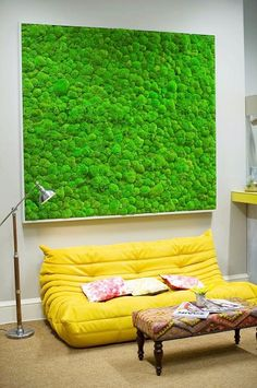 Preserved Moss Enviro-Wall art as a statement piece