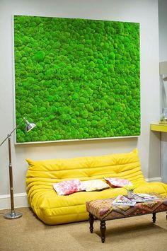 Preserved Moss Enviro-Wall art as a statement piece