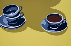 Hot Beverage with Empty Cups by Lori Larusso