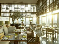 Tesoro, the city's most striking restaurant, is the pride of Taj Dubai. A glorious sunken-garden lounge, it has an olive tree canopy, a conservatory… Ikea Canopy, Canopy Bedroom, Diy Canopy, Fabric Canopy, Wooden Canopy, Window Canopy, Beach Canopy, Canopy Curtains, Canopy Tent