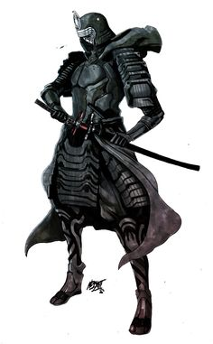 How do you make a Sith warrior like Kylo Ren even more fearsome? Transform him into a samurai!