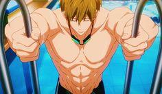 Those muscles though😩😩😍 Makoto Tachibana, Back Muscles, Free Anime, Art Icon, The Twenties, Husband, Princess Zelda, Manga, Icons