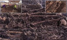 More than 80 skeletons found in a mass grave in the Dutch city of Vianen have been identified as British soldiers aged between 15 and 30 who died fighting French revolutionaries during the War of the … Troops, Soldiers, British Soldier, Skeletons, Revolutionaries, Archaeology, Dutch, City Photo, War