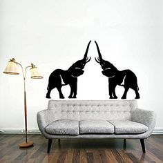 Wall Decals Indian Elephant Tribal Ganesh Bedroom Vinyl Sticker Wall Decor Murals Wall Decal: Amazon.co.uk: Kitchen & Home