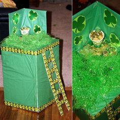 Make This Fun Leprechaun Craft With Your Kids : Funny that I would find this today. My daughter drew almost this exact trap idea for her project. Kindergarten Projects, School Art Projects, Projects For Kids, Christmas Arts And Crafts, Holiday Crafts, Holiday Fun, Holiday Ideas, Leperchaun Trap, St Patrick Day Treats