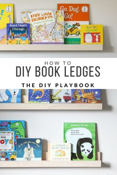 How To DIY Book Ledges for a Nursery | The DIY Playbook