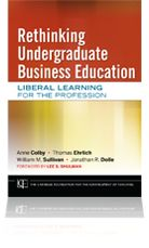 Rethinking undergraduate business education.  The lastest report of the Carnegie Foundation on Business Education is esstential reading. The most valuable parts of this report are William Sullivan's framework on critical thinking and the countless examples of innovative, collaborative business education. It is available in the SFU library: http://i.sfu.ca/UgtHRv