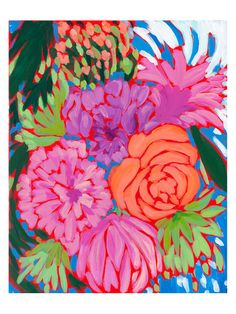 Peonies by Laura Dro (Canvas) by Bashian Home at Gilt