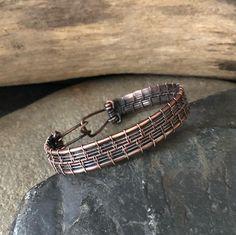 Copper Bracelet Wire Wrapped Bracelet Woven Bracelet