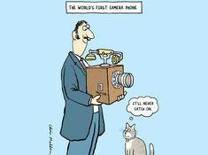 Photography Humor | First Camera Phone - Funny Photography Comics and Cartoons #camera_phones