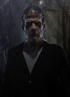 Frankenstein's monster by ZBrushCentral member Cydethan. Sculpted in #ZBrush, rendered in #KeyShot http://zbru.sh/1nf