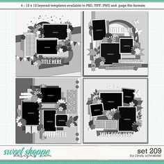 Cindy's Layered Templates - Set 209 by Cindy Schneider