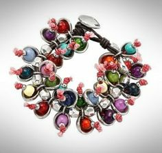 """Beautiful bracelet from the Spanish brand Uno de 50, so called the """"Camelos"""". How colorful can it be..."""