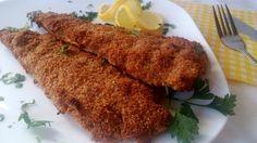 Rántott hal sütőben sütve, diétás panírban