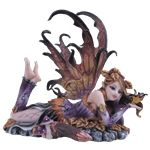 This Autumn Fairy with Butterfly Statue seems content to spend the hours lying on the ground, idly watching a butterfly that has landed on her hand. This fairy figurine is a fine example of fantasy art at its most exquisite. Fairy Statues, Fairy Figurines, Collectible Figurines, Dragon Figurines, Autumn Fairy, Fairy Pictures, Love Fairy, Magical Creatures, Faeries