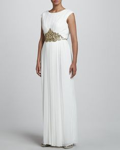 Beaded Chiffon Gown by Notte by Marchesa at Neiman Marcus.