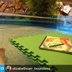 #Repost @elizabethcarr_boundless working outside in the pool!#2015workbook #goals #planner #inspiration  www.2015workbook.com
