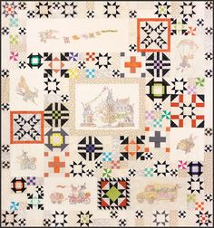 """Pattern """"Stitchwitch Spellbinders Quilt Show Quilt Assembly"""" by Crabapple Hill Studio Hand Embroidery Pattern Embroidery Patterns, Hand Embroidery, Quilt Patterns, Crabapple Hill, Halloween Quilts, Sampler Quilts, How To Finish A Quilt, Quilt Stitching, Quilting Projects"""