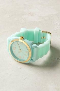 sea-foam green watch