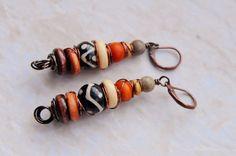 Bògòlanfini  Earrings Mudcloth Earrings by ZenCustomJewelry, $16.00