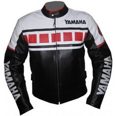 Motorcycle Yamaha Biker Leather Jacket