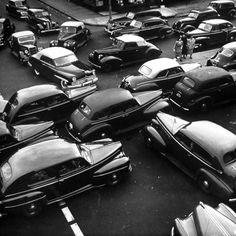 Traffic jam in New York City on Memorial Day Weekend, 1949.