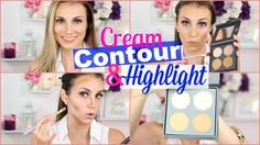 How To: Cream Highlight and Contour with Cover FX Palette.  Watch this tutorial for a more natural looking highlight and contour!  #HelloGorgeous