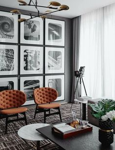 Love the modern look of large-scale prints from floor to ceiling. #interiordesign #interiordecoration 35+ Most Popular Interior Design Styles Defined in 2018